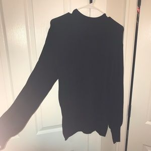 ELOQUII, 2 dolmain sleeve sweaters, black and grey